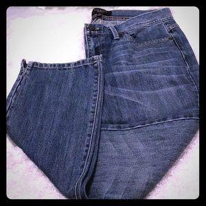 Sz 4. TALBOTS straight leg jeans w ankle slits NWT